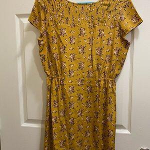 FOSSIL elastic waist floral dress